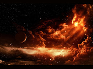 Fantasy Red Space wallpaper