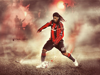 Ronaldinho at AC Millan wallpaper