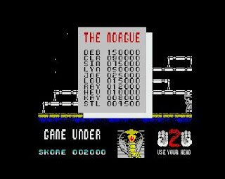 Put your name in the morgue on Cobra - ZX Spectrum