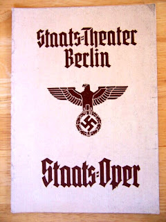 Staatsoper Berlin program with swastika