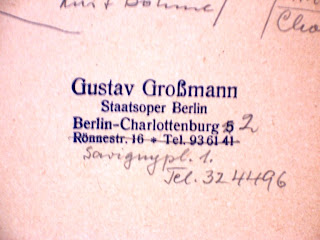 Gustav Grossmann address stamp