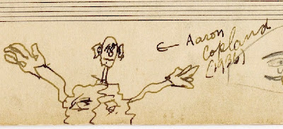 Bernstein caricature of Copland (1936)