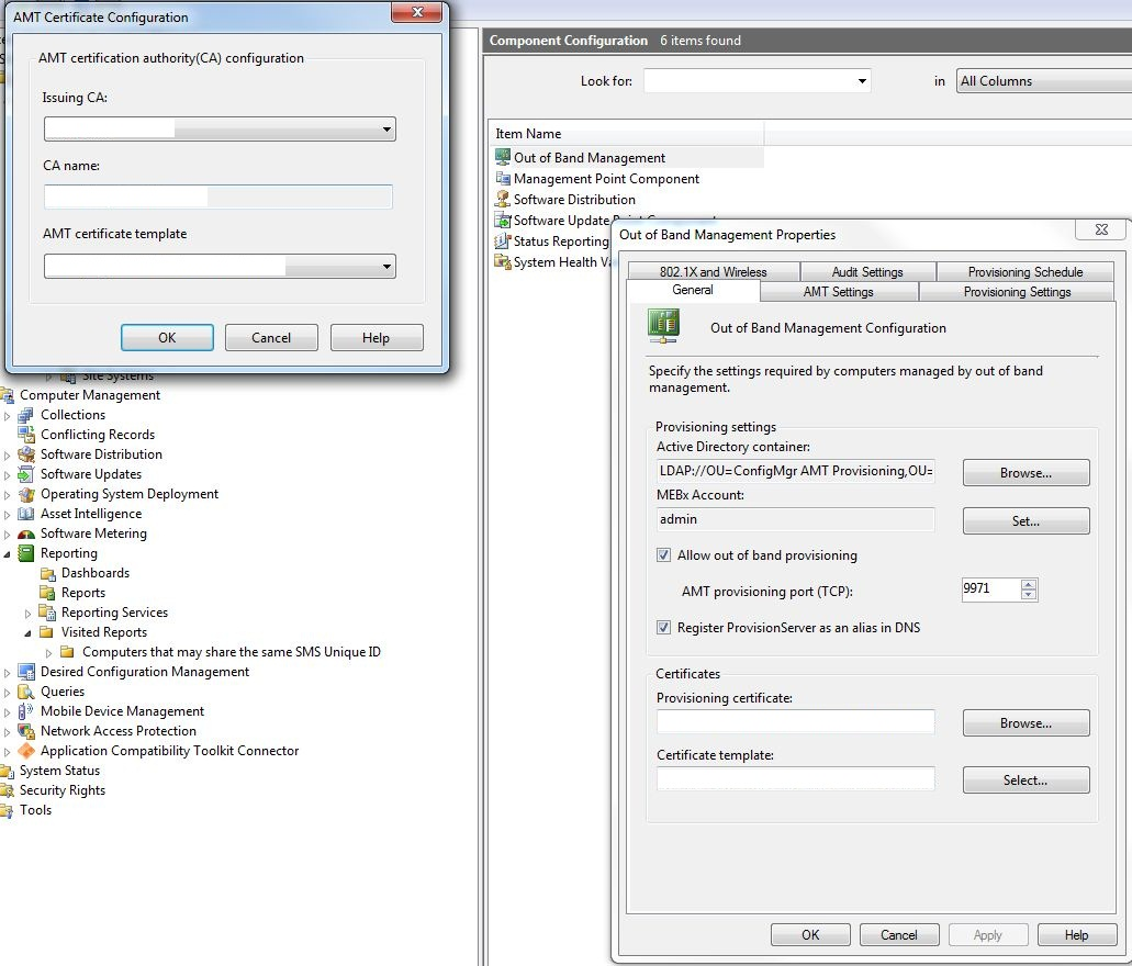 AMT   System Center Configuration Manager