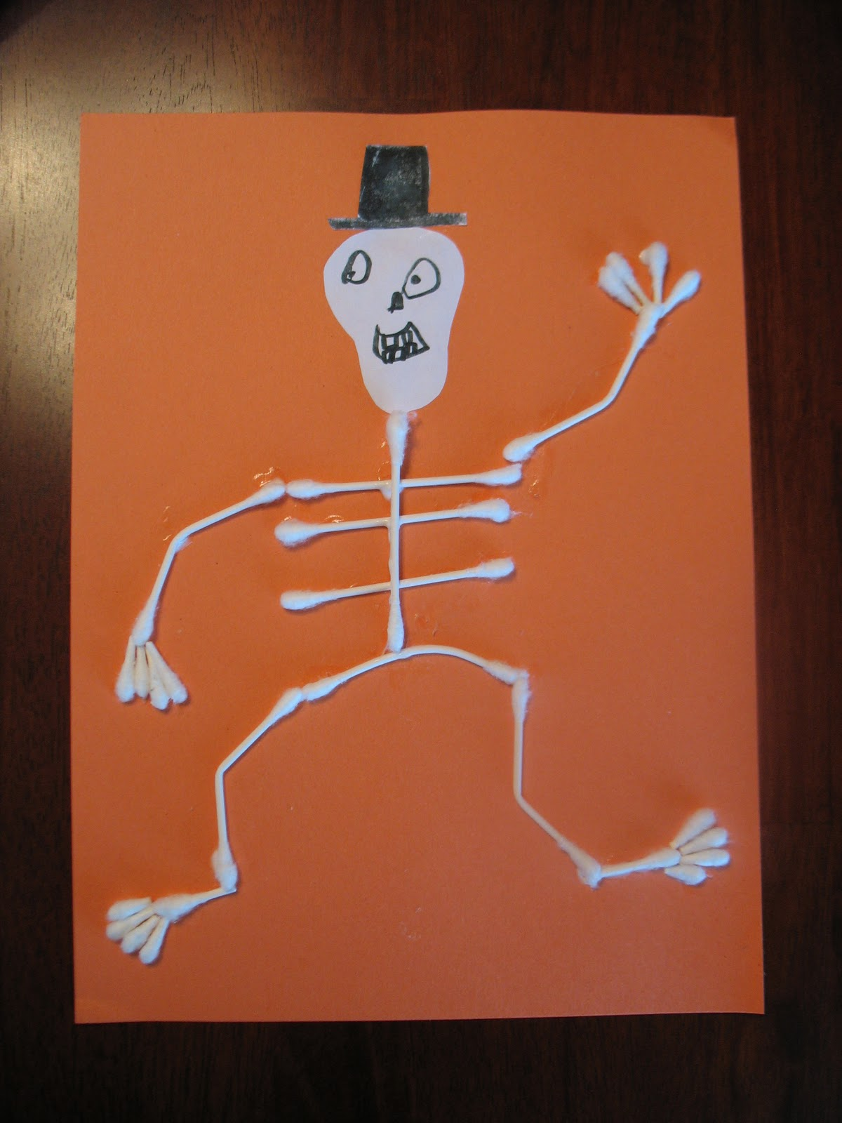 Not just decorating q tip skeleton craft for kids for Q tip skeleton craft template