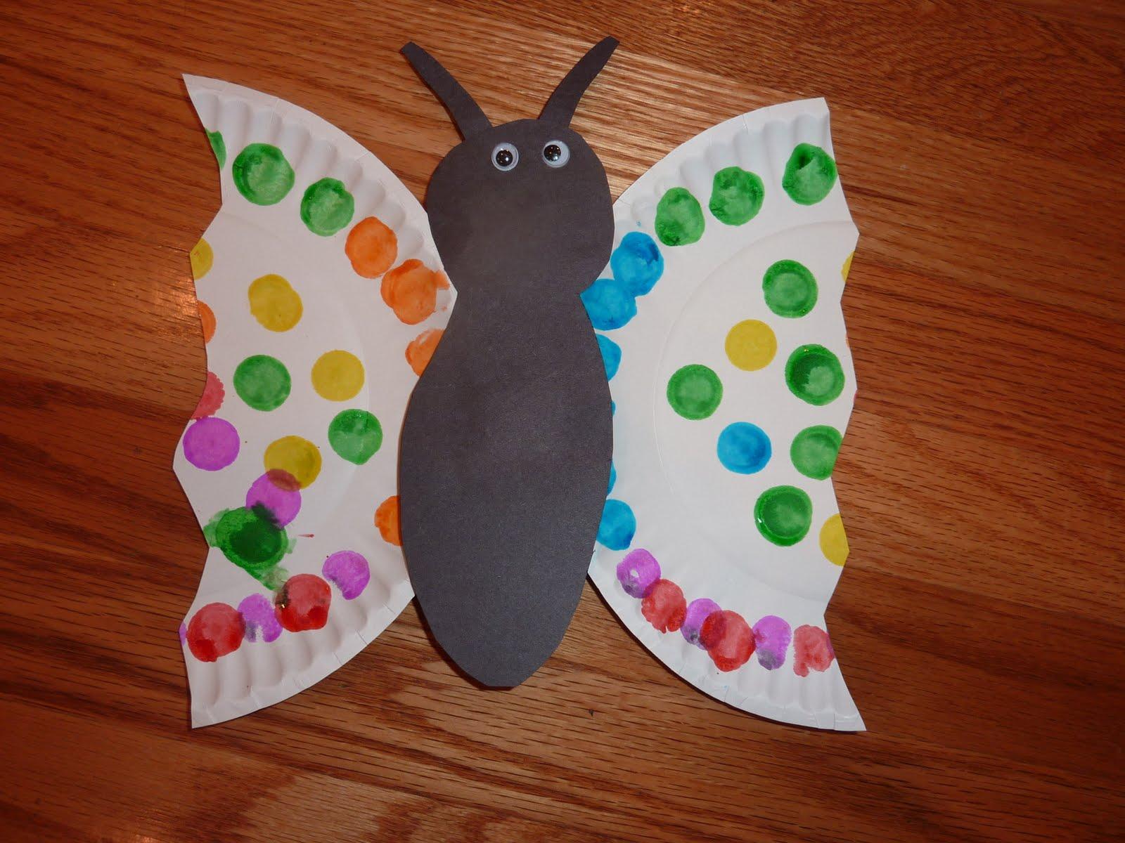 Ramblings of a Crazy Woman: Easy Paper Plate Butterflies ...
