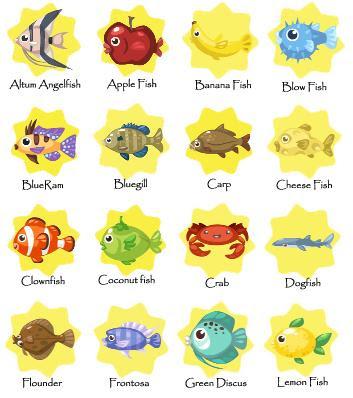 Pet Fish List