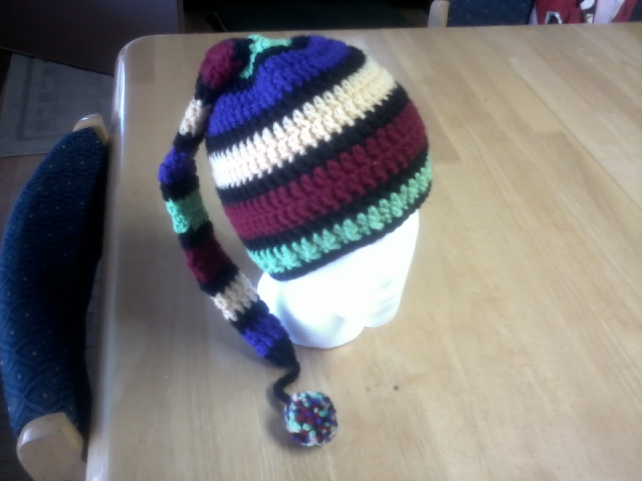 A Stitch At A Time for Amy B Stitched  Crazy Crocheted Ski Hat Pattern 0617f7b423d