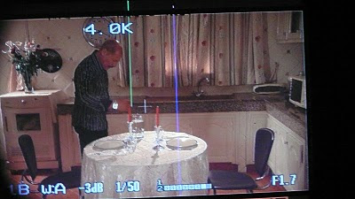 foto con la imagen de Hakim Noury en el visor de la cámara