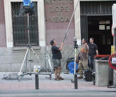 rodaje en exteriores del Instituto Lope de Vega de Madrid