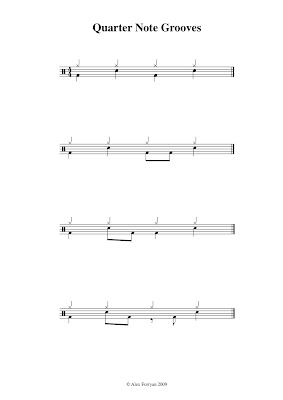 Playsomething Drums: Quarter Note Grooves