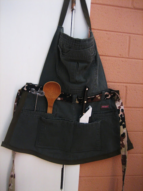 Chef Tess Bakeresse Recycled Cub Scout Pant Aprons
