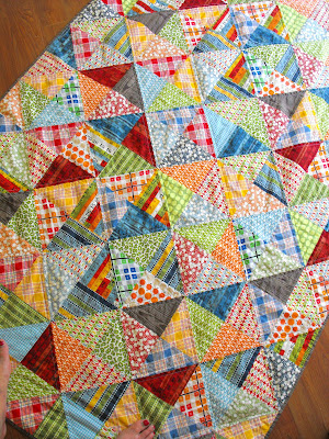 Fussy Cut Weston S Quilt Half Square Triangles