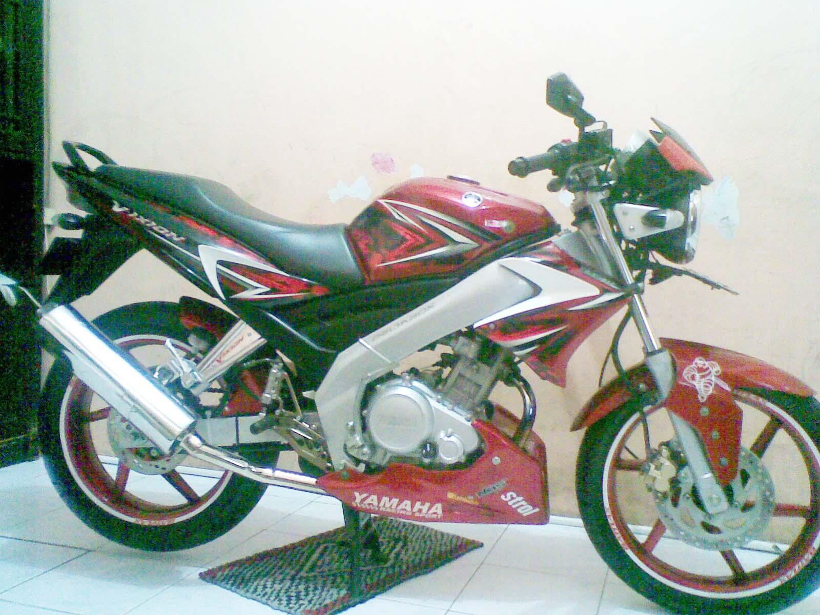 103 Modifikasi Vixion 2010 Merah