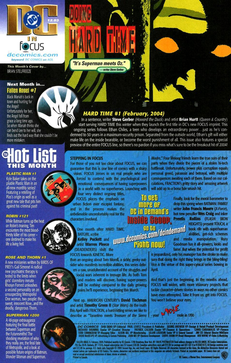 Read online Fallen Angel (2003) comic -  Issue #6 - 24