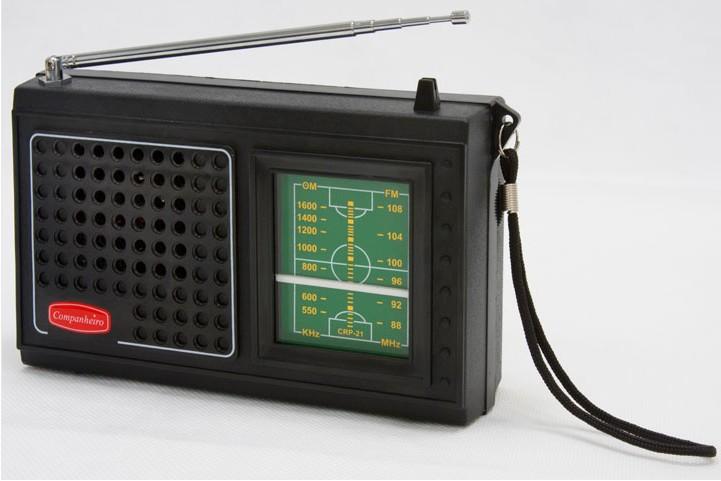 0877c16b583 RADIO COMPAHEIRO 2 FAIXAS AM/FM MODELO CRP-21P RADIO PORTATIL FABRICADO POR  PONERADIO INDÚSTRIA BRASILEIRA, BRASILEIRINHO FALA COM 4 PILHA MEDIA OU COM  ...