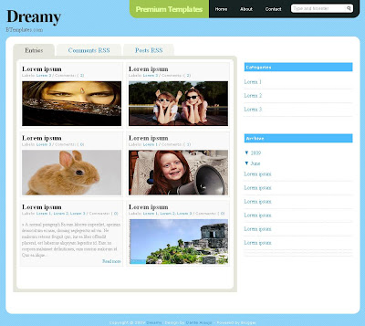 Dreamy Blogger Template
