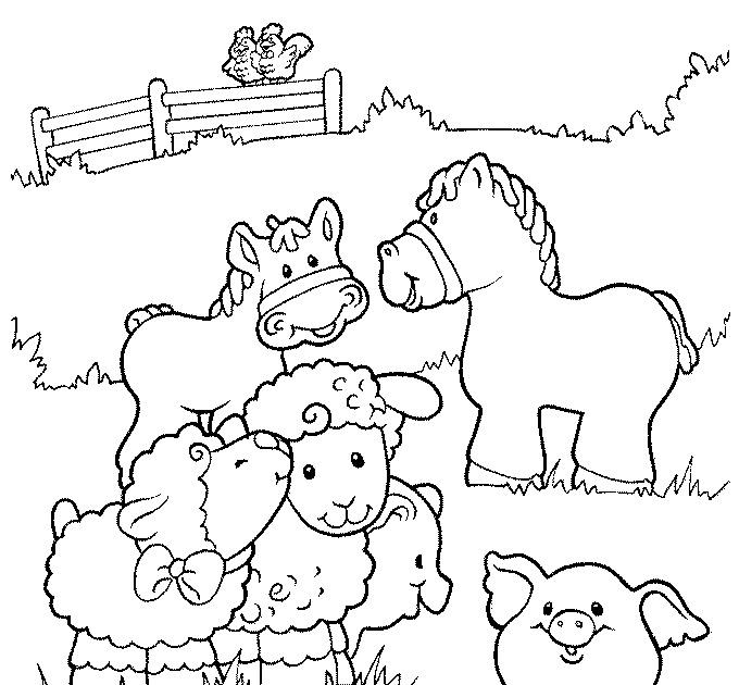 DIBUJO DE ANIMALES DE GRANJA PARA COLOREAR. - Dibujos para Colorear ...