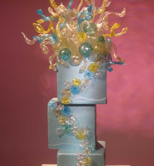 extreme wedding cakes tv show columbusbrideandgroom blown glass blown sugar 14083