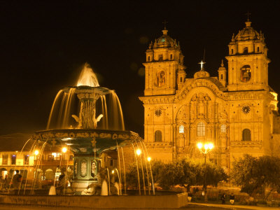 [SA17_BJA0041~Night-View-of-Fountain-and-Cathedral-of-Cusco-Plaza-De-Armas-Cusco-Peru-Posters.jpg]