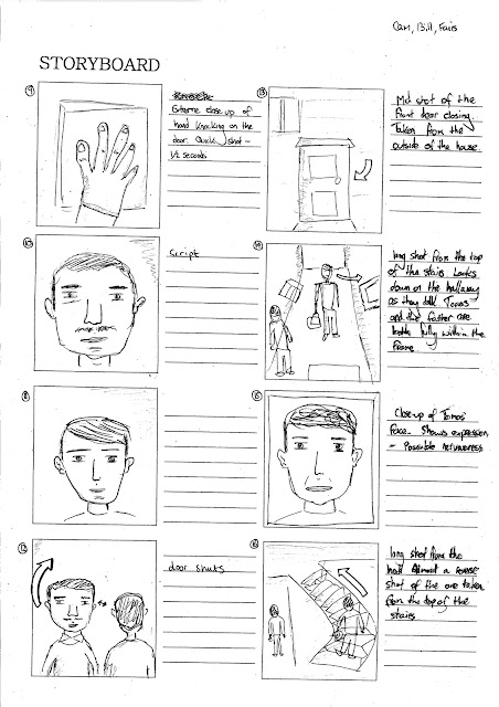 BillyHolmesMedia: storyboard/shot list