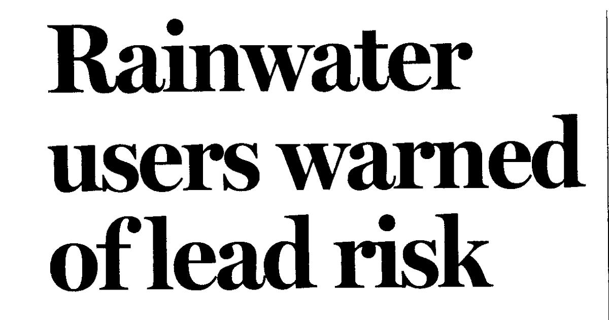 Ian Blair Hamilton's HealtheMail: Bad News for Tank Water