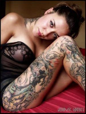 Tattoo Sexy Hot Girl Nude Model