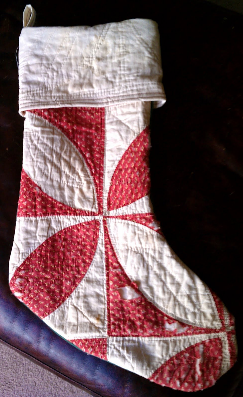 Vintage Pollyanna Christmas Stockings From Vintage Quilt