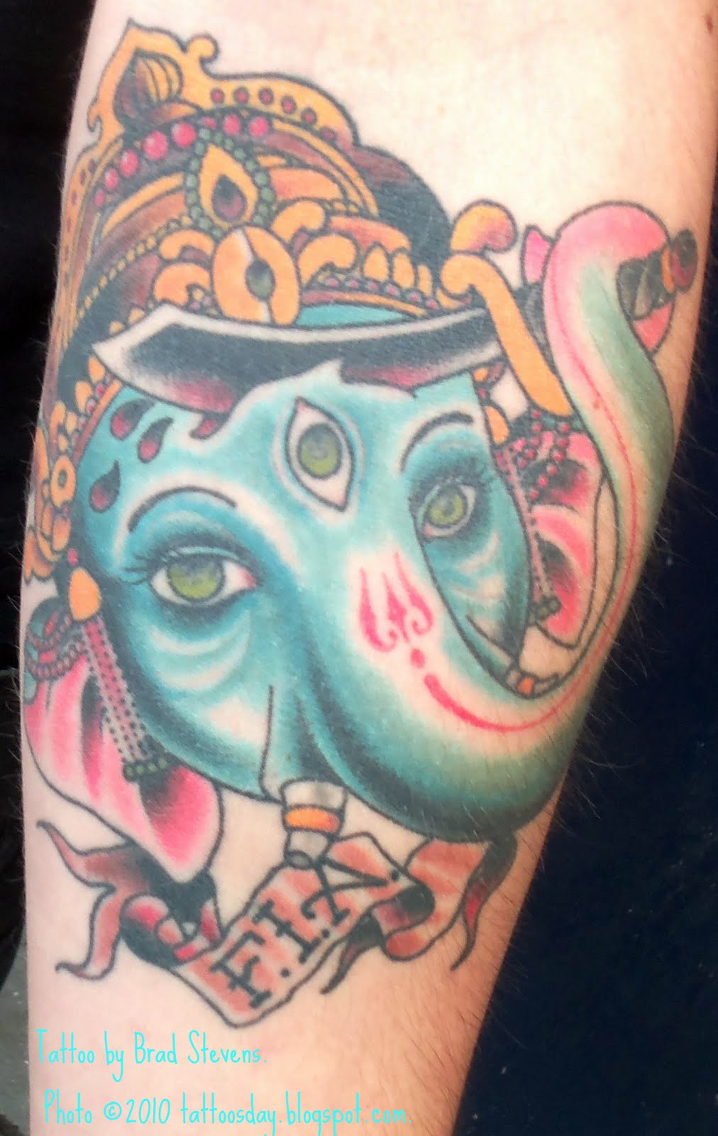 ganesh elephant head tattoo - photo #25