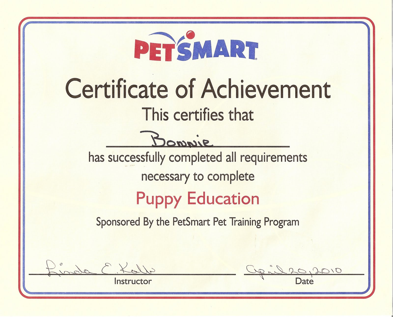 Dog Obedience Graduation Certificate Get Dog Training Advise