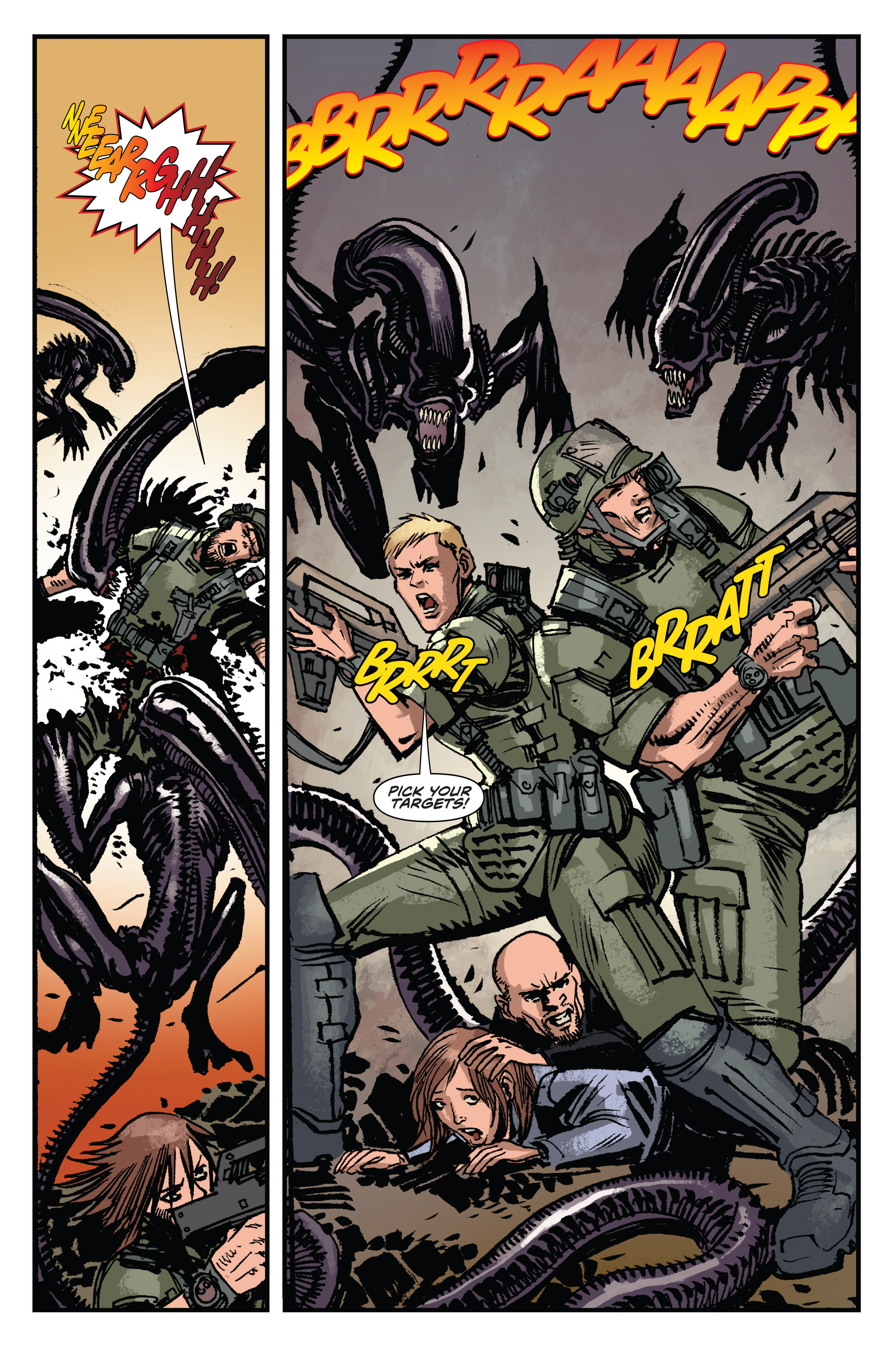 Read online Aliens: Life And Death comic -  Issue #3 - 19