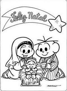 Desenhos De Natal Da Turma Da Monica I Sou Catequista