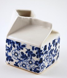 For Some Reason I Can T Get Over The Fact That This Milk Jug By Hanna Rysgaard Ceramics Is Made Out Of Porcelain Yet Shaped Like A Cardboard Carton