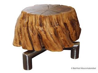 Bothfeld Massivholzmöbel Tisch Aus Pflaumenbaum Wurzel