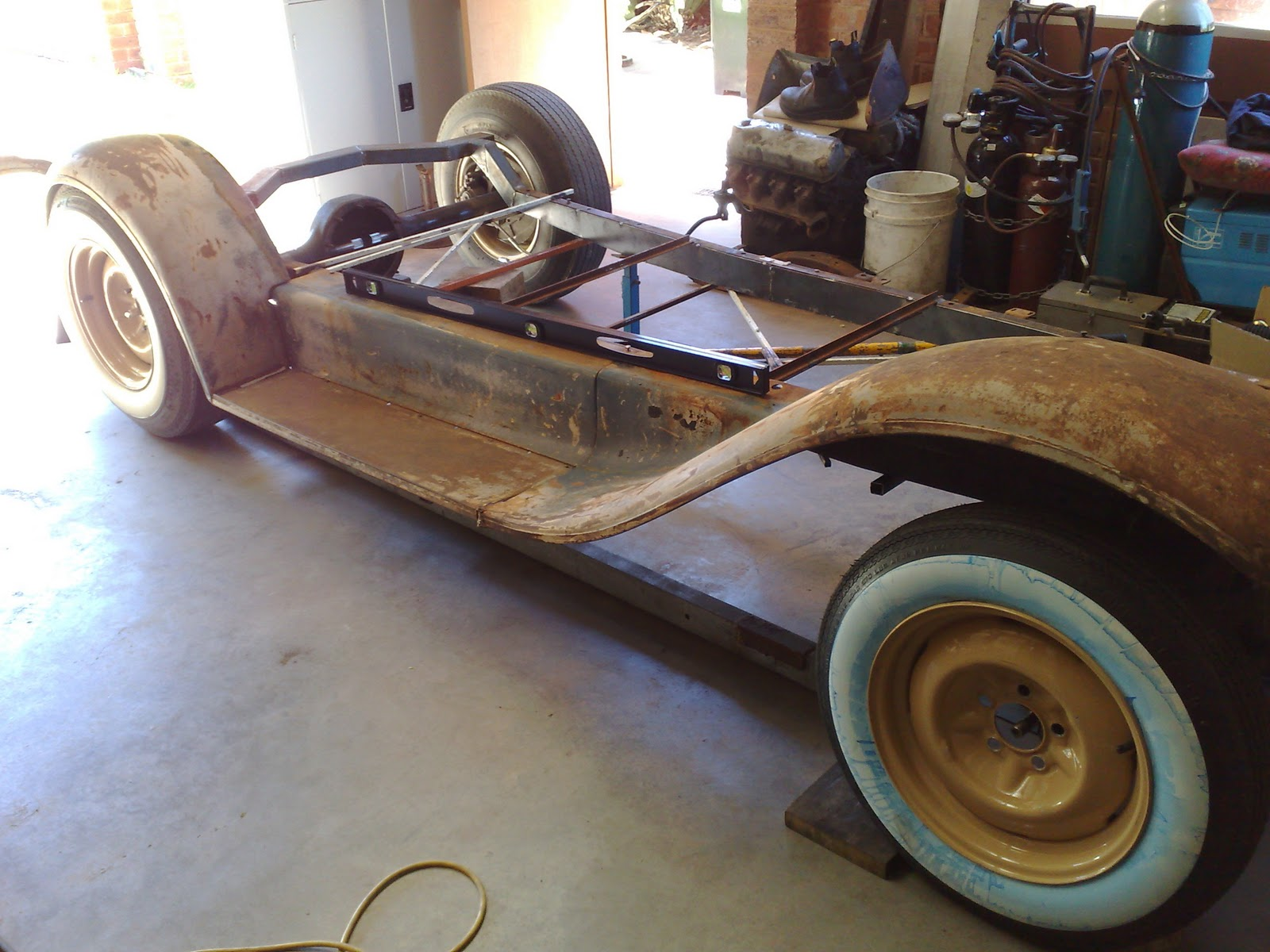 How To Measure Wheel Base >> 1930 Ford Model A Coupe Build Up Test Measuring Wheel Base