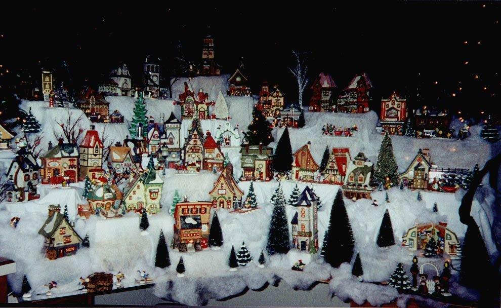 christmas light up villages christmas ideas