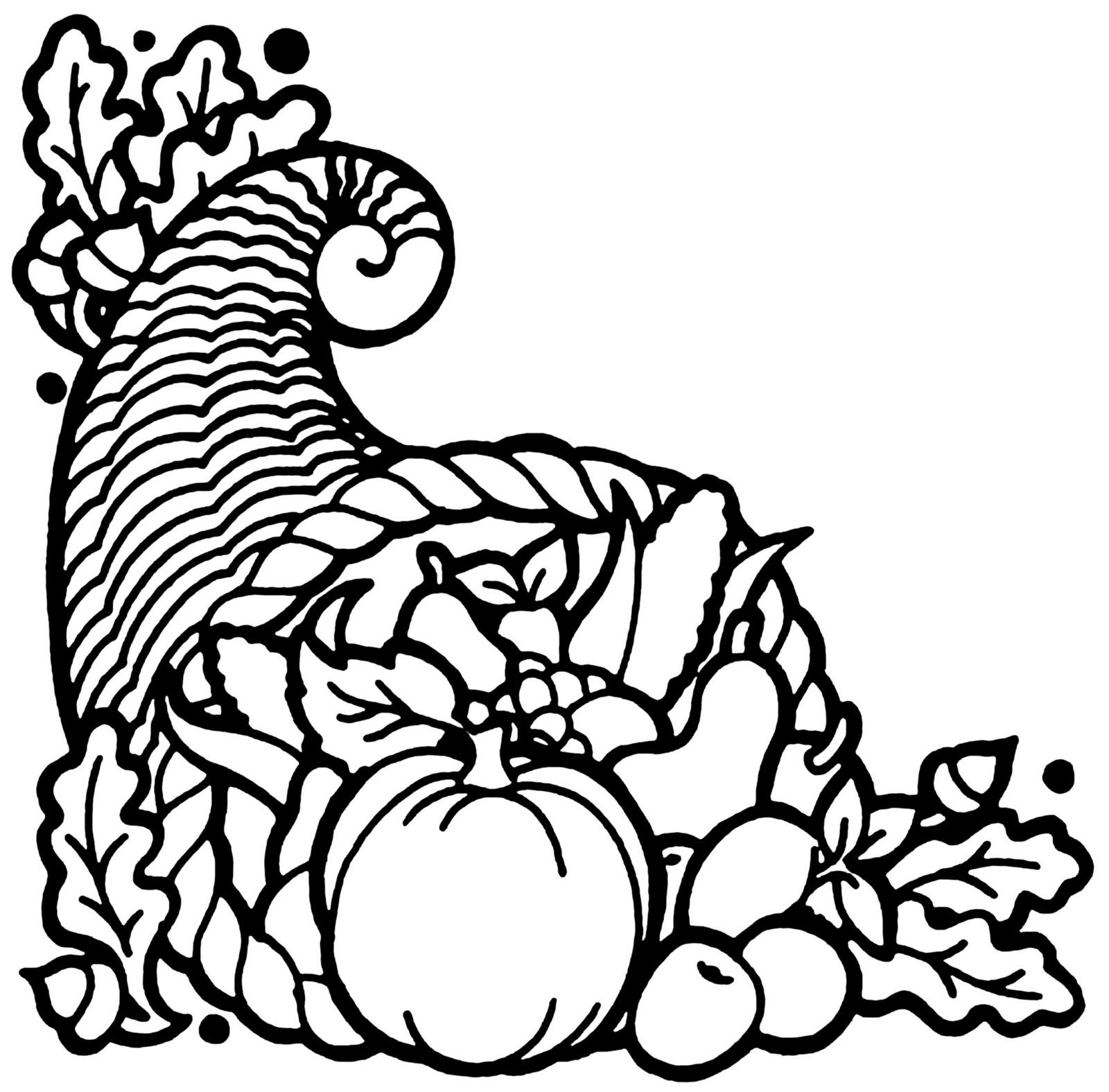 turkey and cornucopia coloring pages | Turkey Eve Meal on Metcalf: The Thanksgiving Cornucopia
