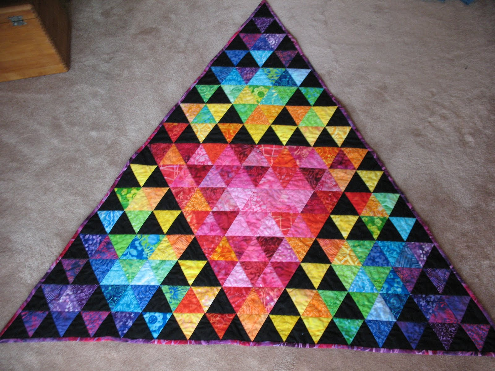 Zany Quilter New Rag Quilt And Pics Of Sierpinski