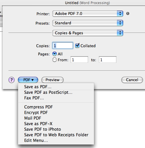 I Work in Pages: Three Steps from Pages to PDF