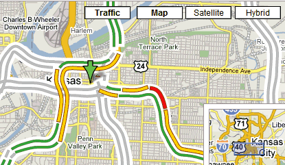 Google Operating System Google Maps Shows Real Time Traffic Data