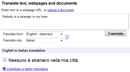 English To Italian Translator Google: Google Translate Adds Text-to-Speech For More Languages