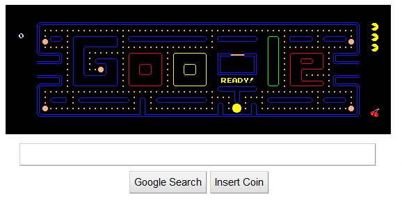 Play Pac Man On Google S Homepage