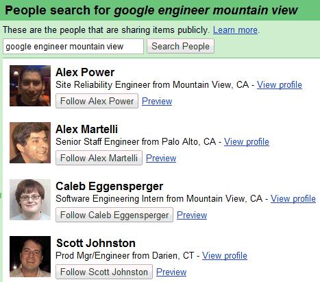 Поиск в гугле людей