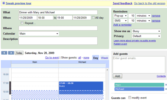how to delete gmail calendar event spam