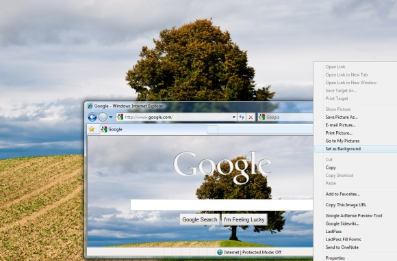 how to set google s background image as a wallpaper