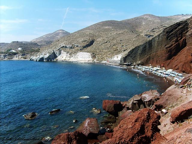 Akrotiri beach Santorini island