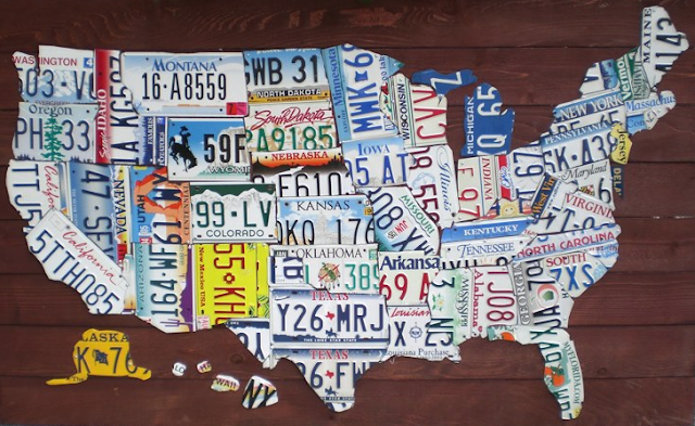 maps united states map made of license plates