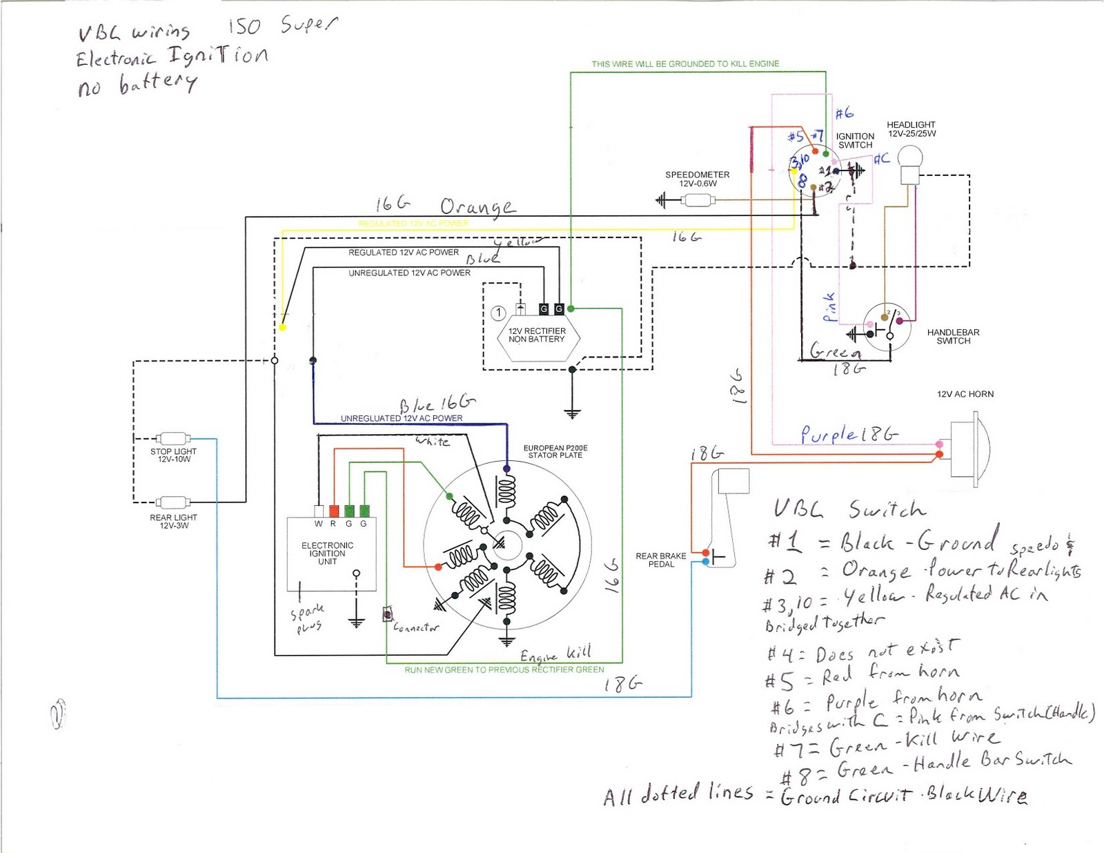 scooter ignition switch wiring diagram holden vectra gy6 rectifier free engine image for user