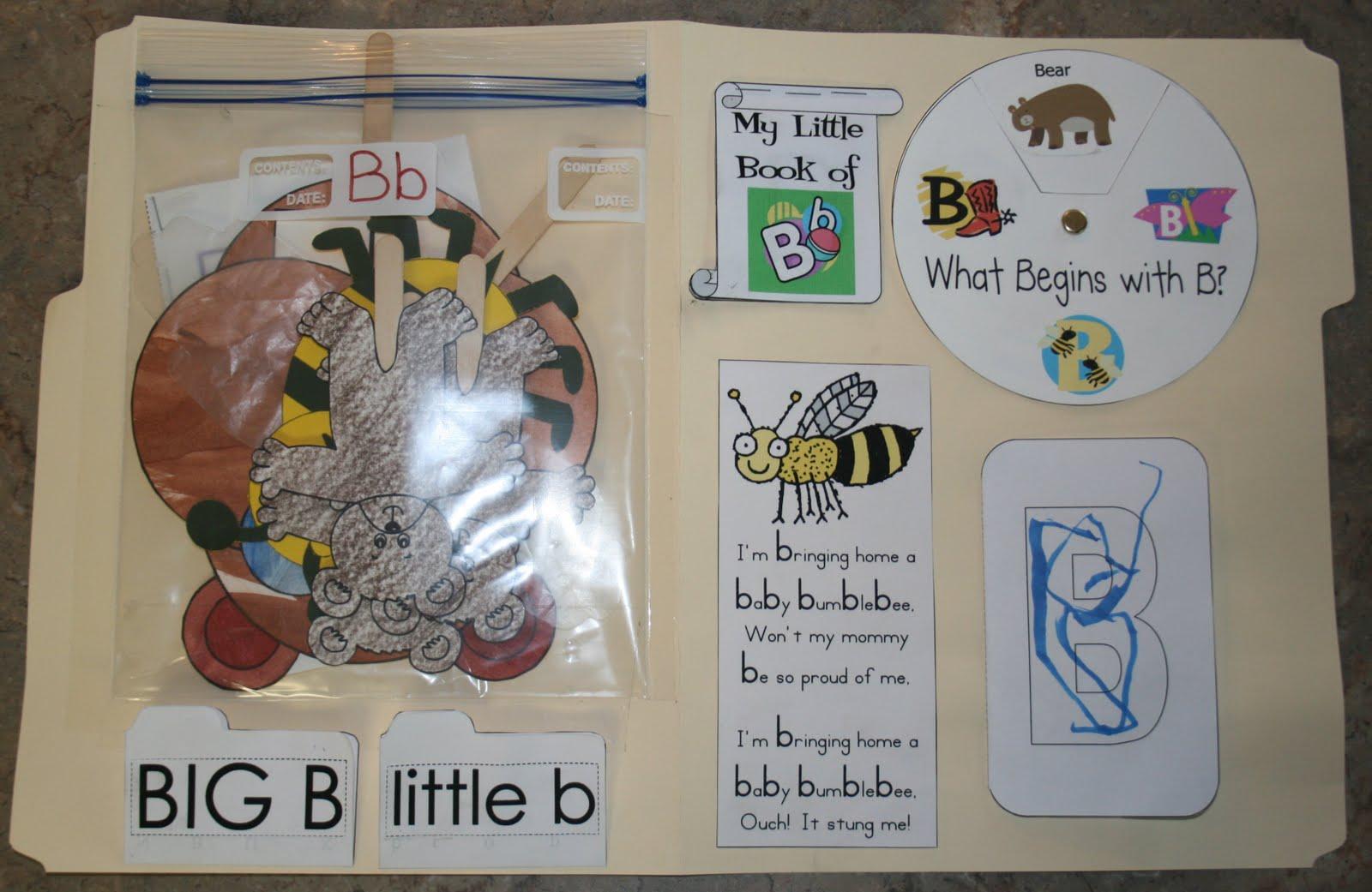 Orr Homeschool Adventures Letter Bb Lapbook