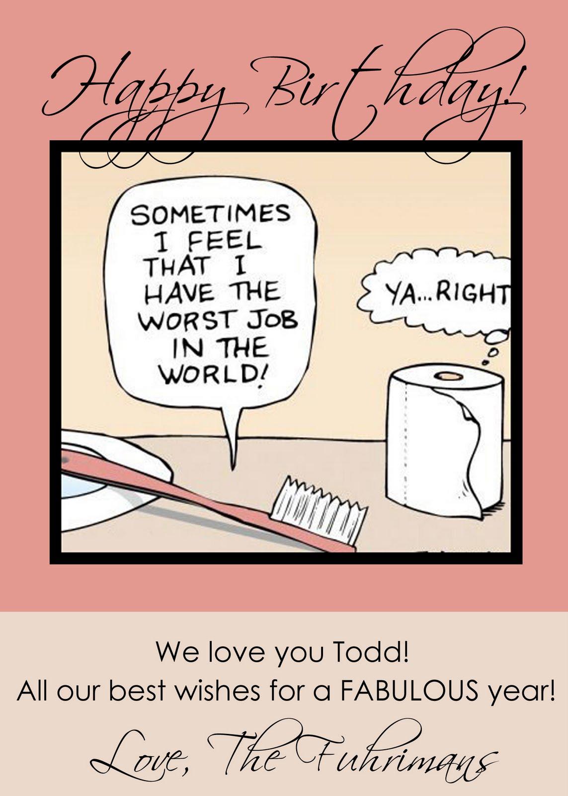 Printable Humor Birthday Cards
