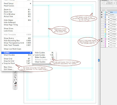 Tales of the Hollow Earth Illustrator Comic Panel Guides Template - comic panel template